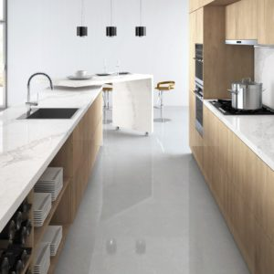 Calacatta Nuvo Caesarstone Komposit Küchenplatten
