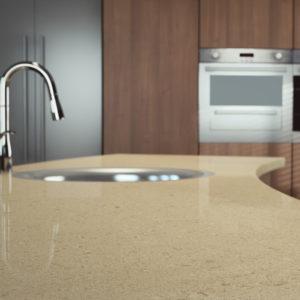 Créme Brule 4255 Caesarstone Komposit Küchenplatten