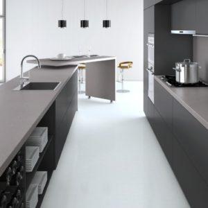 Sleek Concrete 4003 Caesarstone komposit Küchenplatte (Silk)