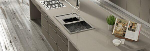 Coral clay Silestone Komposit Küchenplatte