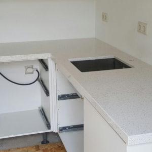 Krispino White Belenco Komposit Küchenplatten