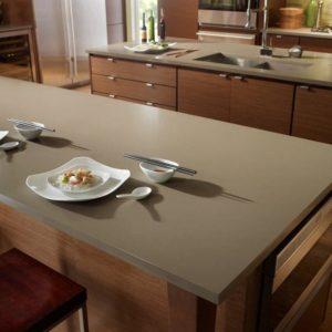 Toffee Suede Silestone Komposit Küchenplatte