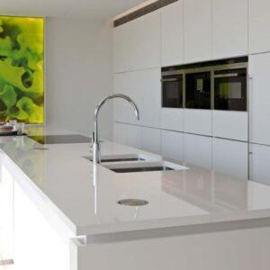 Nano Glas White Küchenplatte
