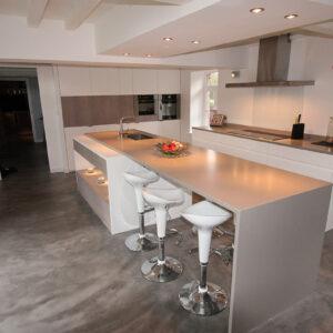 Premium Dolphin Grey Diresco Komposit Küchenplatte