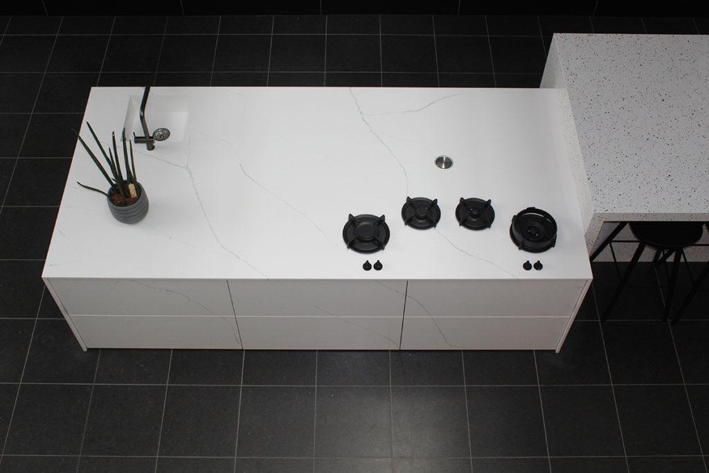 Noblesse White Diresco Komposit Küchenplatte