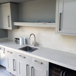 Dekton Blanc Concrete Keramik Arbeitsplatte