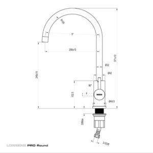 Lorreine Pro-Round Wasserhahn