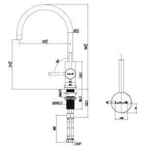 Reginox Spring RVS Armaturen