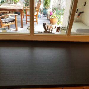 Granit Fensterbank Basalt Eingeölt