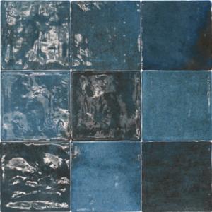 Vintage Wandfliese Class zellige Azul Oscuro