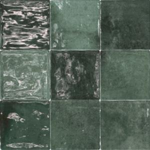 Vintage Wandfliese Class zellige Verde Oscuro