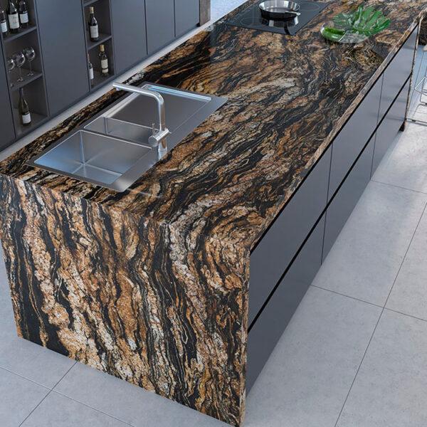 Granit Arbeitsplatte Black Taurus