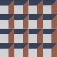 Vintage Fliesen Quadrat Dekor 3