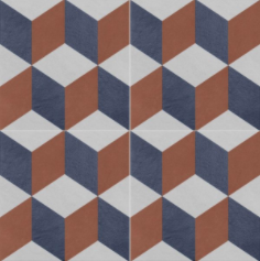 Vintage Fliesen Quadrat Dekor 4