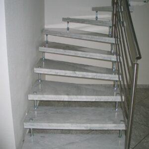 Marmor Treppenstufen Bianco Carrara